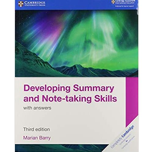 Developing Summary And Note Taking